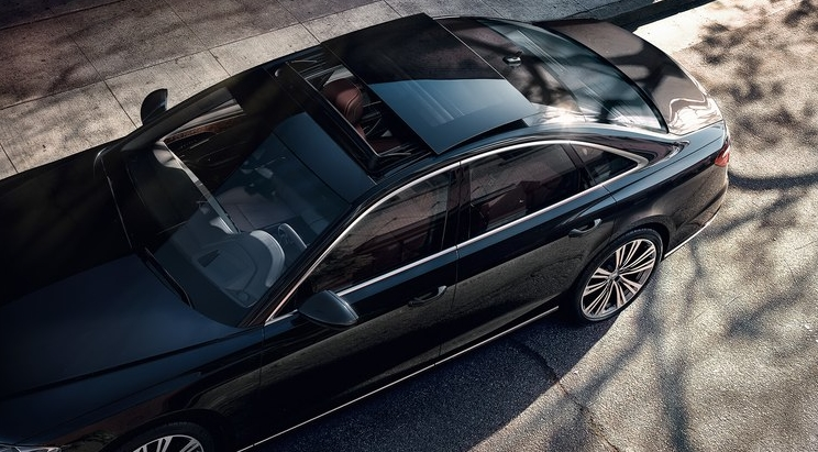 Audi A8 from above