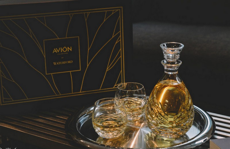 Avión Collection Crystal Sipping Decanter Gift Set for tequila lovers-