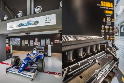 Unmissable Senna at the Lamborghini Museum. Come to see all the race cars driven by Ayrton Senna