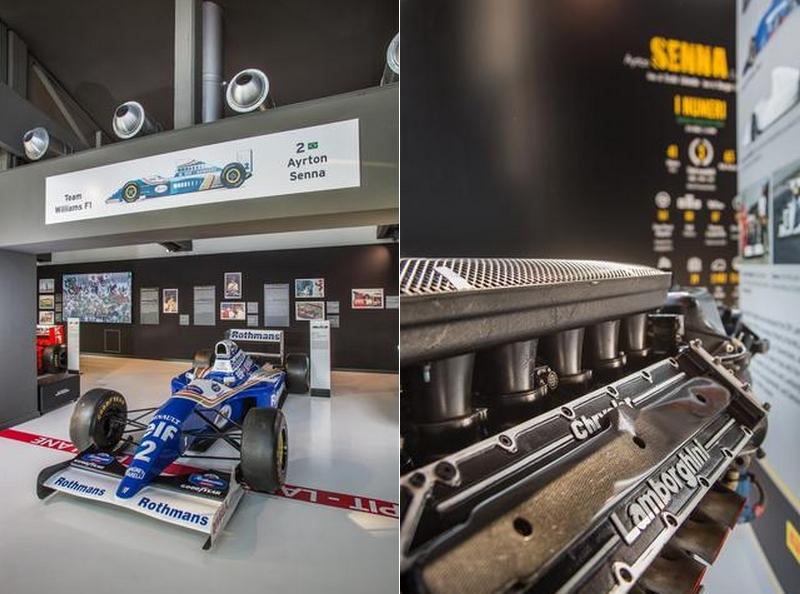Ayrton Senna exhibition at the Lamborghini Museum in Sant'Agata Bolognese