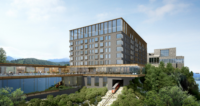 Bürgenstock Hotel in Obbuergen, Switzerland - new luxury hotel openings 2017-2018