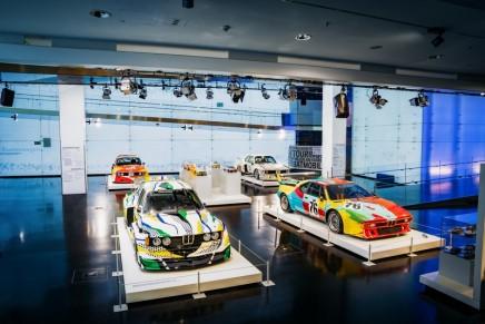 Big Four – First 4 BMW Art Cars of Alexander Calder, Frank Stella, Roy Lichtenstein and Andy Warhol on display