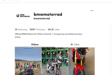 BMW Motorrad – the first motorcycle manufacturer to use TikTok