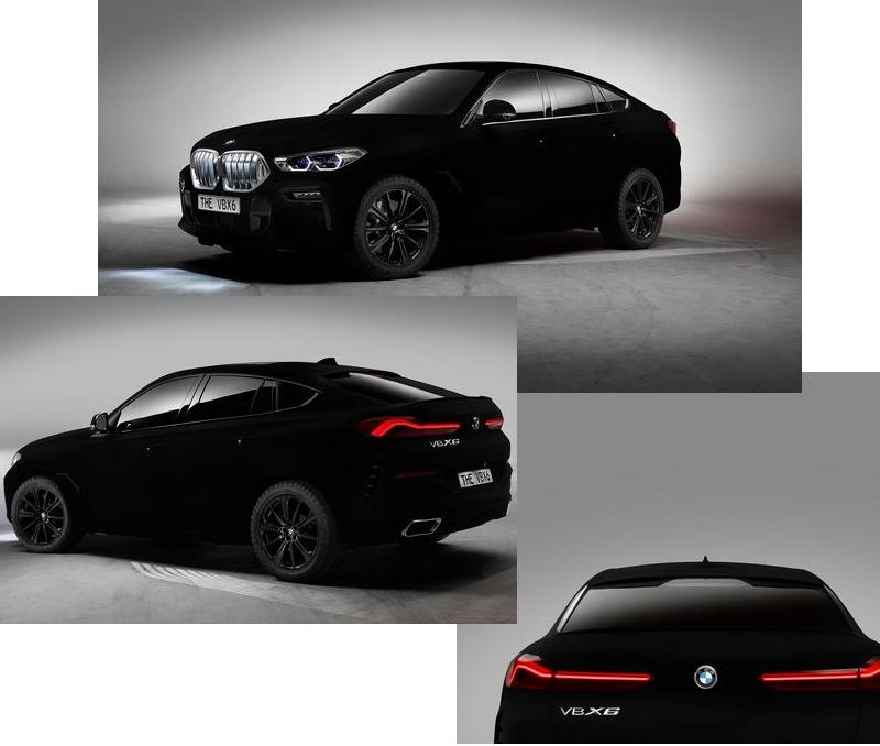 BMW X6 Vantablack VBx2 paint