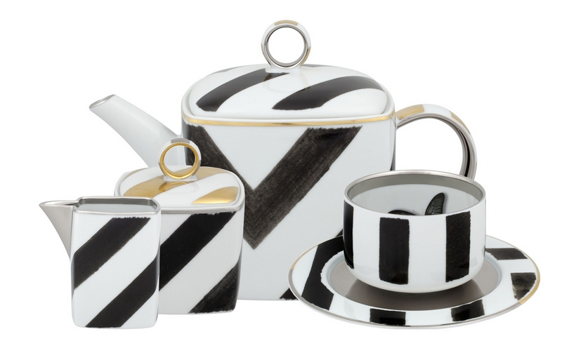BONADEA Luxury Tableware - Chic Table Settings for The Season of Giving - Christian Lacroix Sol Y Sombra Tea Set