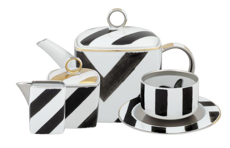 BONADEA Luxury Tableware - Chic Table Settings for The Season of Giving - Christian Lacroix Sol Y Sombra Tea Set