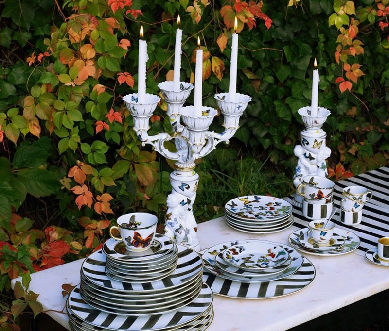 BONADEA Luxury Tableware - Chic Table Settings for The Season of Giving -Christian Lacroix Sol Y Sombra