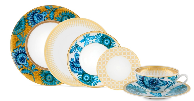 BONADEA Luxury Tableware - Chic Table Settings for The Season of Giving - Gold Exotic Collection