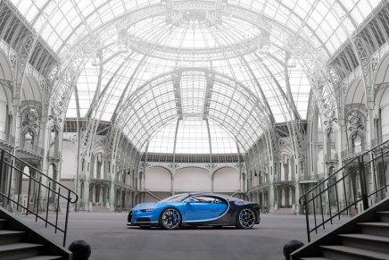 The Chiron by Bugatti. The world's first production sports car with 1,500 HP debuts at Geneva Motor Show
