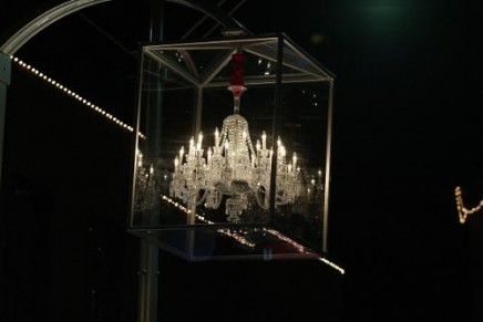 Baccarat Crystal Chandelier over Rodeo Drive in Celebration of Baccarat's 250th Anniversary