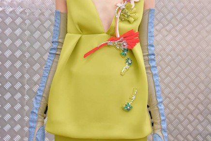 Prada's Milan fashion week show goes for heightened femininity