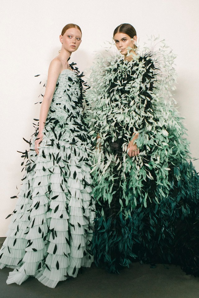 Backstage at the Givenchy Haute Couture Fall Winter 2019 show by Clare Waight Keller