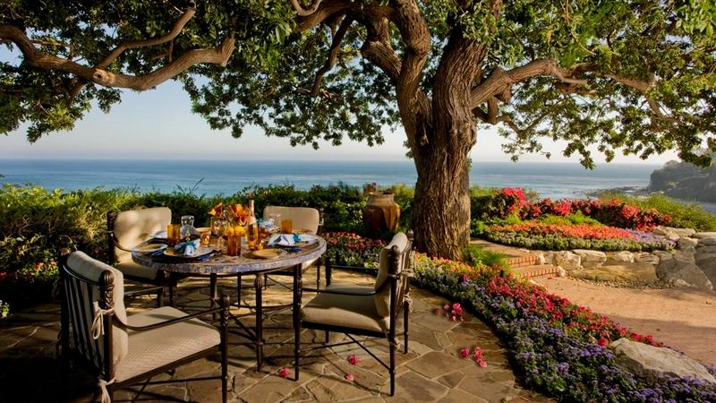 Backyard overlooking the Pacific Ocean