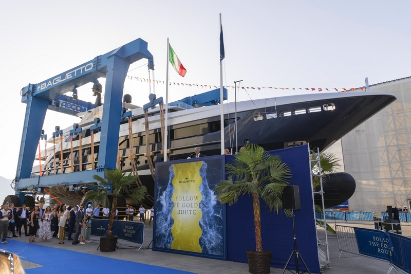 Baglietto unveiled the biggest yacht built by the historic Italian shipyard in its recent history