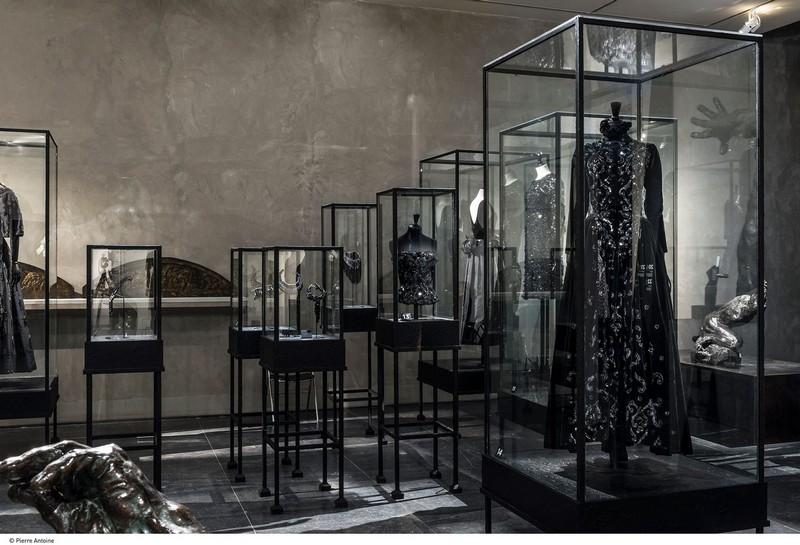 Balenciaga, working in black-