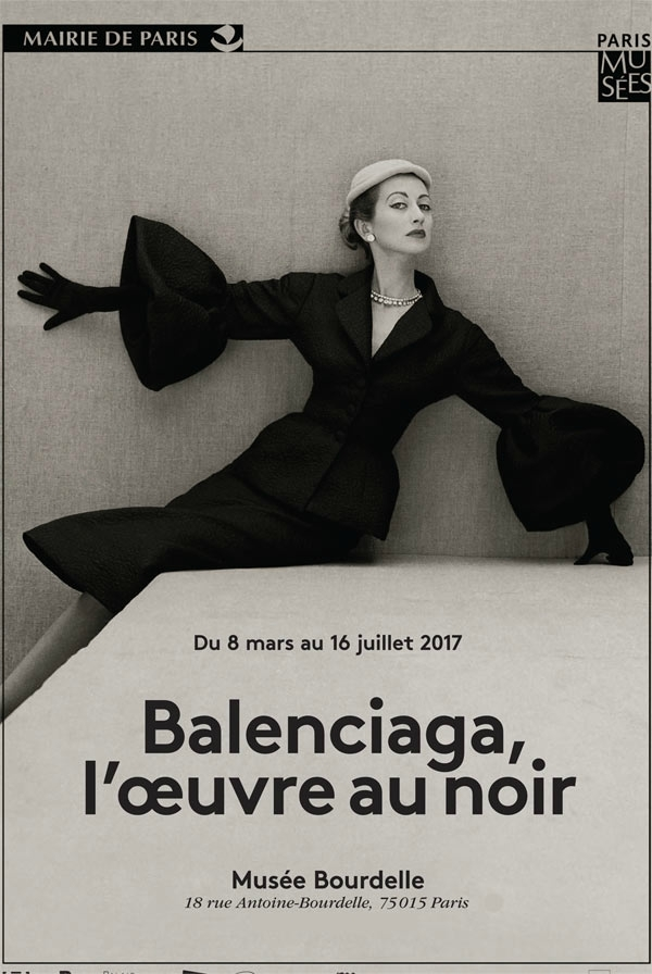 Balenciaga, working in black-Balenciaga, l'oeuvre au noir exhibition at musee bourdelle 2017-