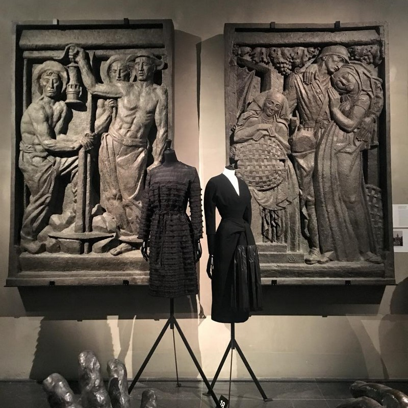 Balenciaga, working in black-Balenciaga, l'oeuvre au noir exhibition-musee bourdelle 2017