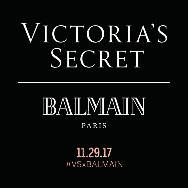 Balmain x Victoria's Secret limited-edition capsule collection