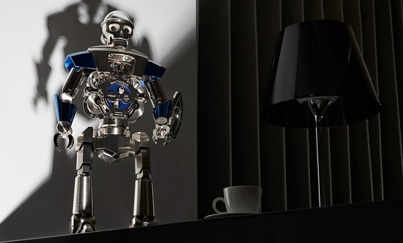 Balthazar is a sophisticated and imposing high-precision robot clock