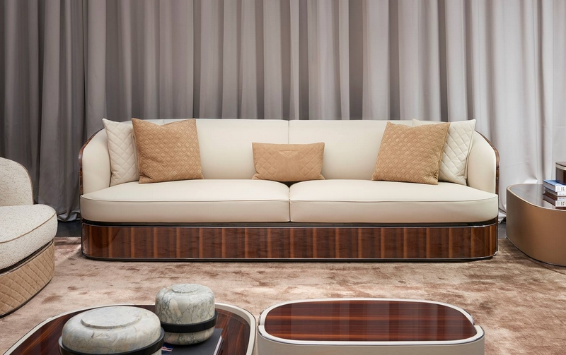 Bampton sofa by Bentley Home designed by Carlo Colombo