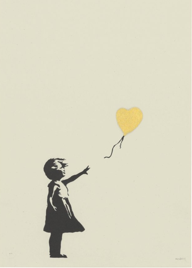 Banksy, Girl with Balloon (Gold). Courtesy of Christie's Images