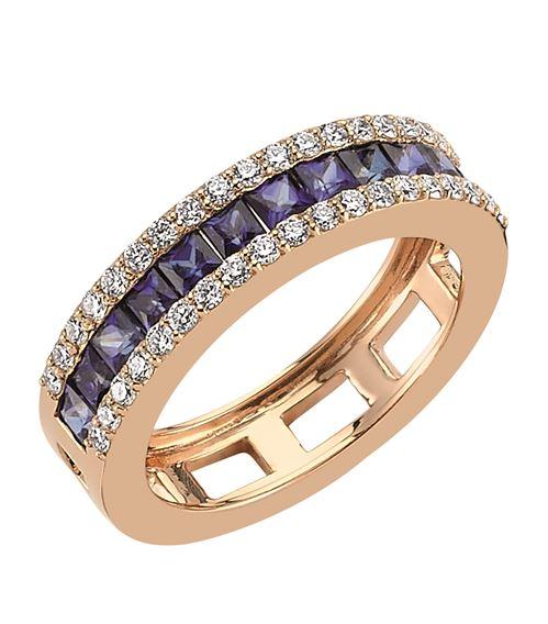 Bee Goddess Mondrian Sapphire Ring