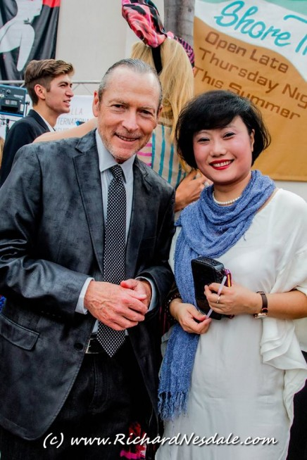 Beijing based Michelle Qi from ECPG China and La Jolla Producer Fred Sweet hanging out during the Red Carpet on Closing Night. Michelle presented the award for Best Picture....