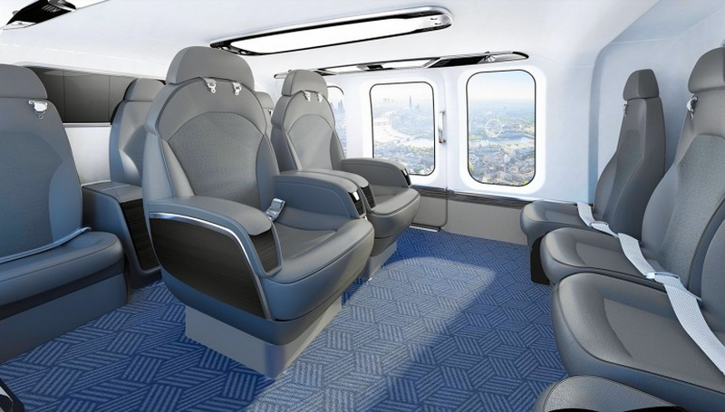 Bell Helicopter's new flagship VIP helicopter 525 Relentless - cabin interior