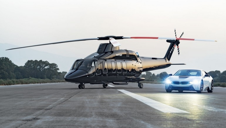 Bell Helicopter's new flagship VIP helicopter 525 Relentless