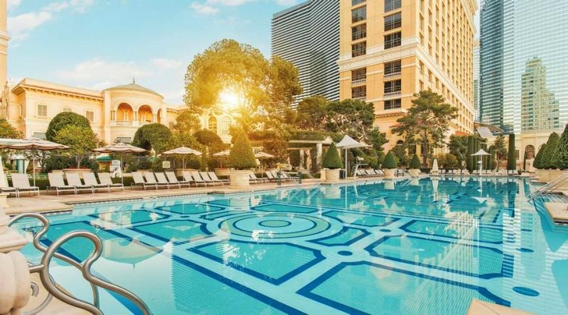 Bellagio -unquestionably Las Vegas' most inviting pool area