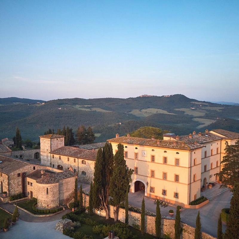 Belmond Castello di Casole aerial view