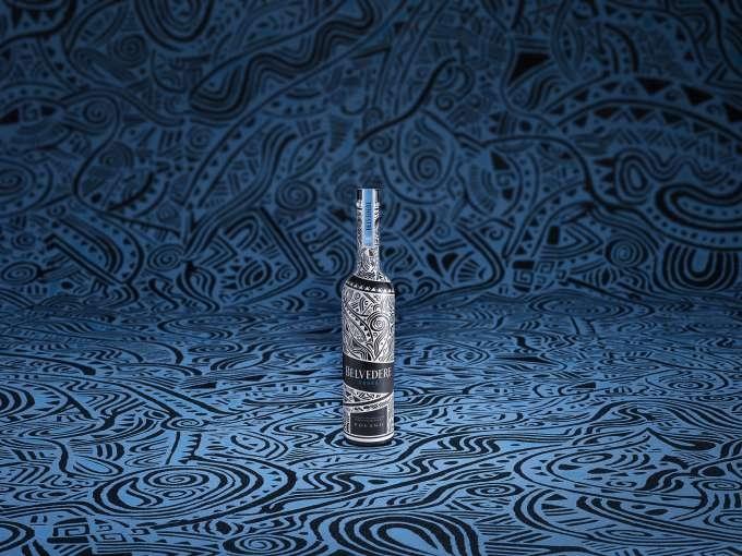 Belvedere Vodka introduces limited edition bottle designed by artist Laolu Senbanjo-2018 - the bottle