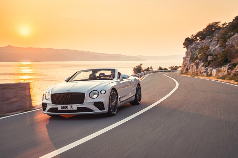 Bentley Continental GT Convertible on the road