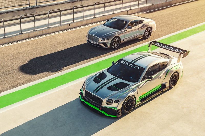 Bentley Continental GT and GT3 models