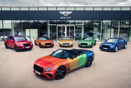 Who doesn't love a rainbow? Bentley creates its first rainbow car