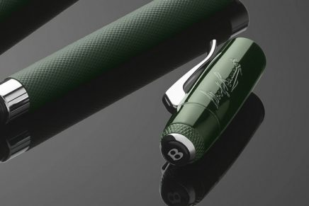 Bentley has created unique writing instruments in tribute to the Blue Train Race