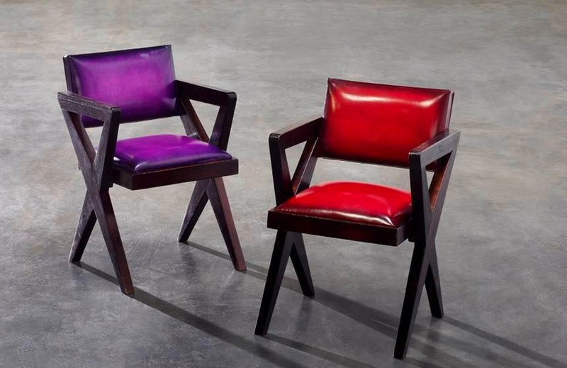 Berluti x Pierre Jeanneret Limited Edition Cinema chairs