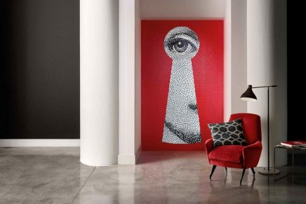 Bisazza Collezione Fornasetti makes a spectacular statement in any living space