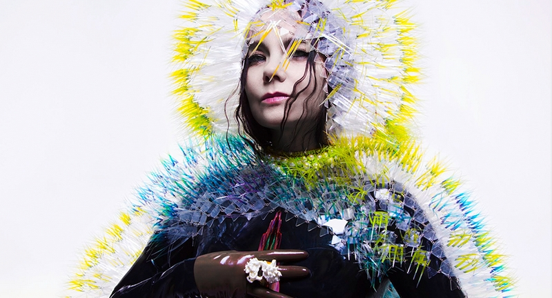 Björk wearing Maiko Takeda on her Vulnicura album cover (Japan Fashion and Lifestyle Foundation