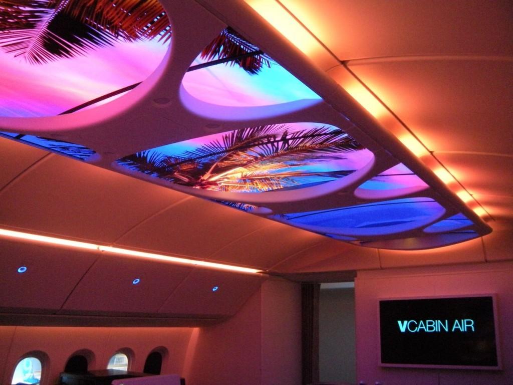 Boeing Skylight Cabin brightens the flight