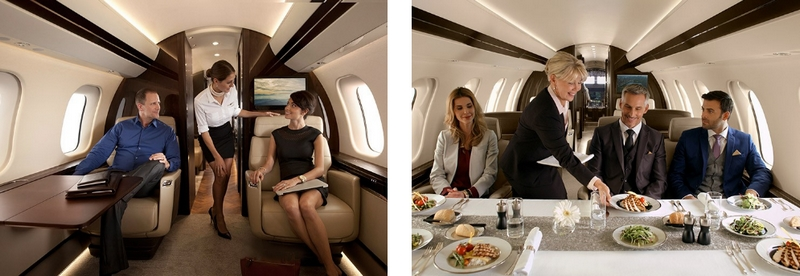 Bombardier Global 7000 aircraft cabin 2018-