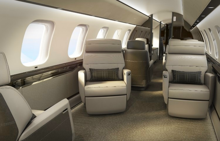Bombardier Nuage Seat for Global 7000 aircraft cabin 2018-