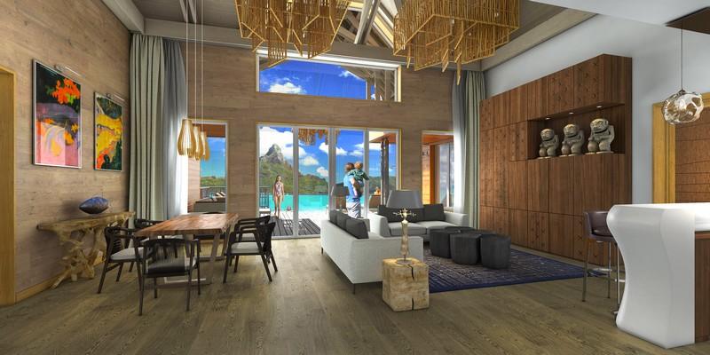 Brando Suite Bora Bora - living room