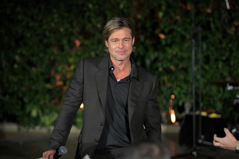 Breitling Cinema Squad Member Brad Pitt at the Breitling Summit in Los Angeles, California.