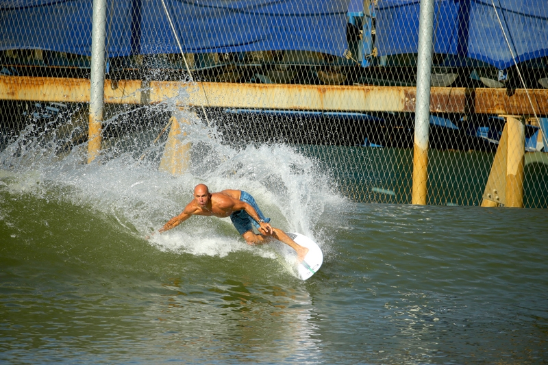 Breitling Surfers Squad Member Kelly Slater at his Surf Ranch in Leemore, California