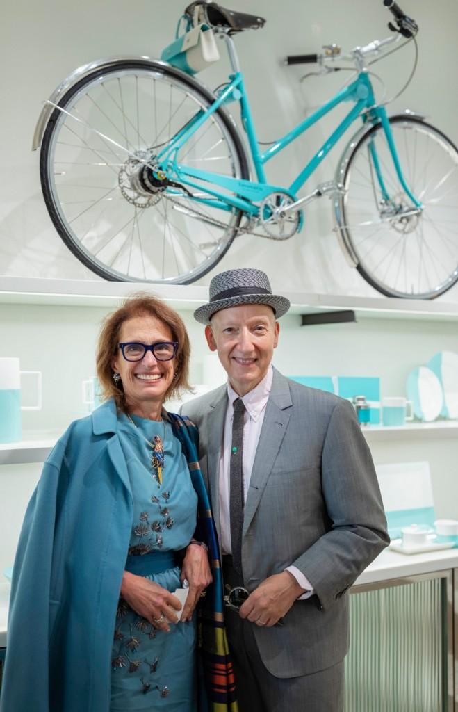 British Milliner Stephen Jones OBE with Rose Marie Bravo, Vice Chairman of Burberry