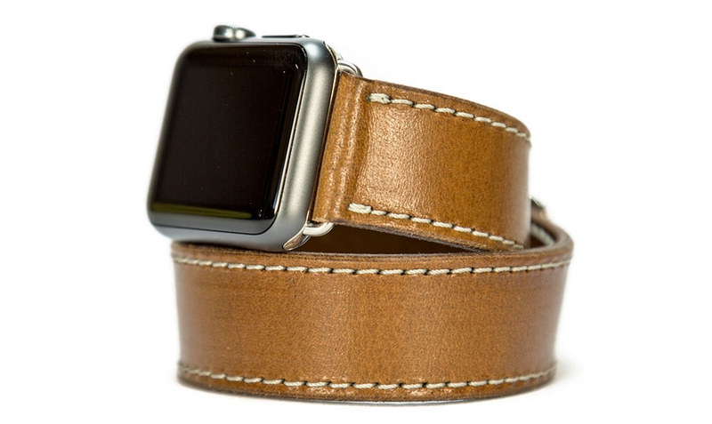 Brown Nut Leather Apple Watch Band