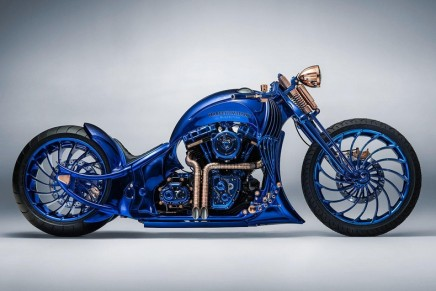Bucherer x Harley-Davidson Blue Edition – a handmade motorbike par excellence, which took over 2,500 hours of work to produce