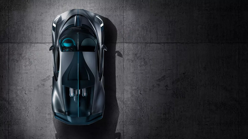 Bugatti DIvo supercar from above