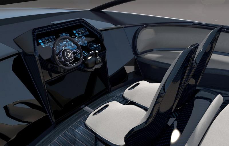 Bugatti Niniette 66 yacht - Unique Bugatti designed helm chairs and a futuristic command centre